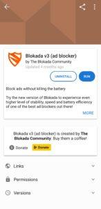 Blokada installed